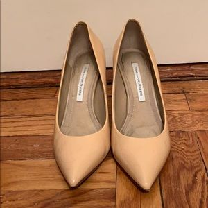 DVF Nude Pumps